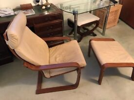 IKEA leather easy chair