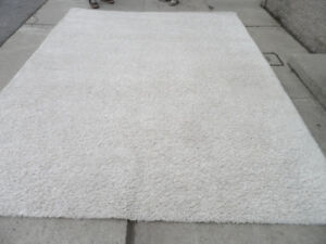 White Rug 8' x 10' by Himalaya Area Rug Shag Carpet