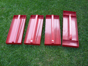 4 tool box trays for $20.00