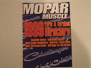 MOPAR MUSCLE 1999 Parts & Services Directory. VGC