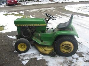 John Deere 110  Riding tractor and blower mower
