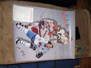 Posters ; photos ; coupures vintage hockey et baseball Canadiens