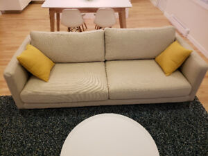 """BRAND NEW 3-seater Sofa from Structube beige """"Carine"""""""