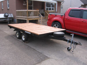 10 x 5.7 HOME MADE FLAT BED TRAILER TANDEM AXLE