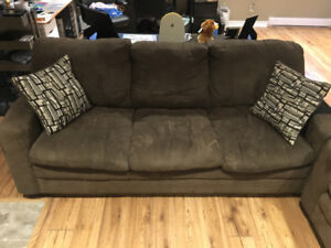 Brown Couches - Micro Suede - $600 Negotiable