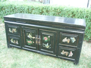 Antique Asian Cabinet with Drawers