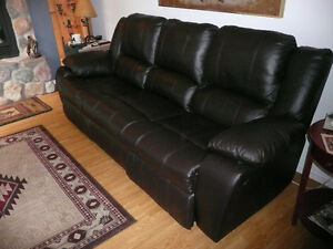 Electric Benson Palliser Leather Sofa