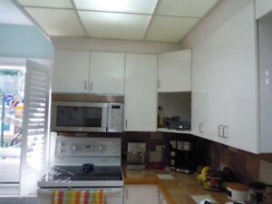 Armoires de cuisine en stratifié 18 modules usagés