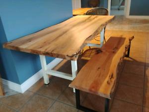Custom made live edge tables - mantles - shelves