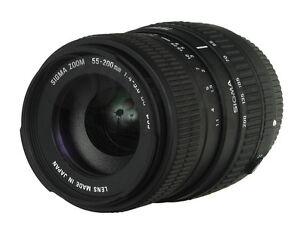 Sigma AF 55-200mm f/4-5.6 DC pour appareil Canon