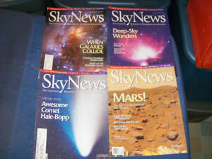 4 VINTAGE BACK ISSUES OF SKY NEWS-1997-ASTRONOMY-MARS+