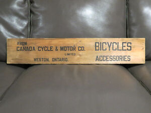 1930's CCM Bicycles Sign