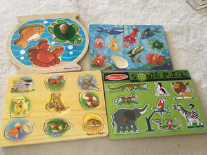 Variety of Melissa and Doug Puzzles Great Condition Strathcona County Edmonton Area image 1