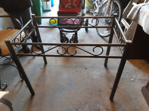 Glass dining table and baker's rack