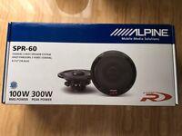 Alpine SPR-60. Type R Speakers. 300W. Pair. New. Sealed.