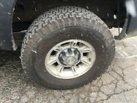 315/70/17 h2 hummer tires and rims set of 6