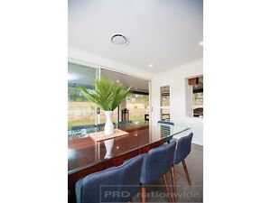 Huge custom made timber & glass top dining table with 10 chairs Bolwarra Heights Maitland Area Preview