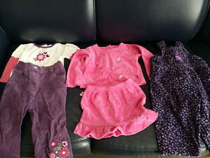 18 Month Girls Purple and Pink Lot