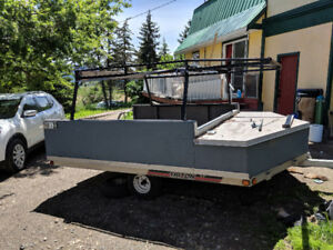 1999 Triton Quad/Snowmobile trailer And Metal Boat Rack