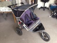"DOUBLE ""OUT & ABOUT "" PRAM / BUGGY & RAIN COVER - GREAT CONDITION (lots of life left)! RRP £400++"