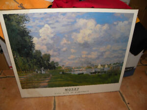 Monet Laminated Print Good Condition Only $15