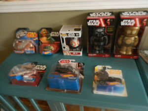 Star Wars Various Items Lot  New Still Sealed Tin Wind Up Etc