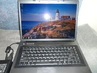 LAPTOP WITH DUAL CORE PROCESSOR, 1 GB RAM, 80 GB HD $120.  wifi,