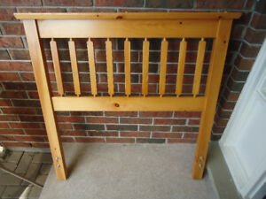 SINGLE BED FRAME WITH SOLID PINE HEADBOARD