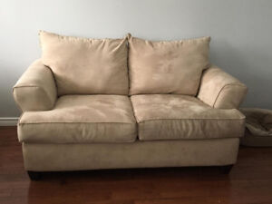 Big Comfy Micro Suede Loveseat for sale