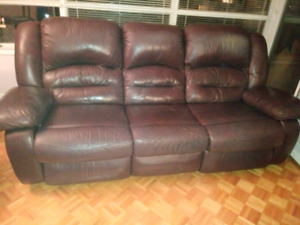 Italian Leather sofa recliner