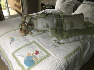 Pottery Barn Kids Peter Rabbit Crib Bedding and Nursery Decor