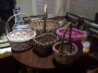 5 Baskets for $5 - Ready for Christmas Gift Basket Making