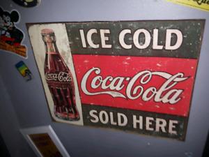Affiche en métal Coca-Cola