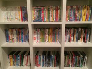 DVDs for kids - over 200 assorted titles