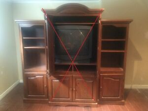 2 end book cases (center unit not available)