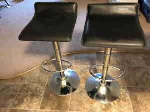 Height Adjustable Contemporary Bar Stool (Set of 2)