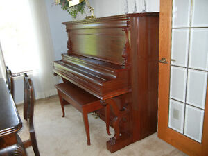 Antique Gerhard Heintzman Upright Grand Piano