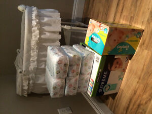 Bassinet and diapers