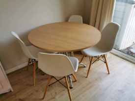 Round table and 4 chairs FREE