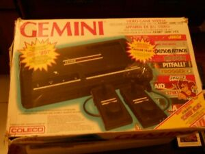 Coleco Gemini system in box  with 6 games