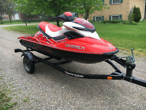 2008 Sea-doo RXP 215 with trailer