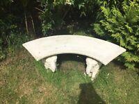 Concrete elephant bench