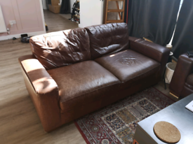 Next Leather Sofa and sofa bed