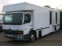 MERCEDES ATEGO 1523 MOBILE LIBRARY CAMPER VAN MOTOR HOME RACE TRUCK BUS DAY VAN