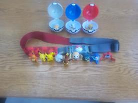 Pokémon belt and figures