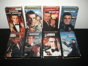 James Bond 007 format VHS - 8$ le lot