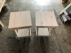 Rustic Headboards and End tables