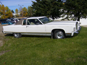 Lincoln Continental 1977 White 2 Door