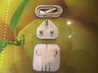 Apple Lightning cable wall plug EarPods