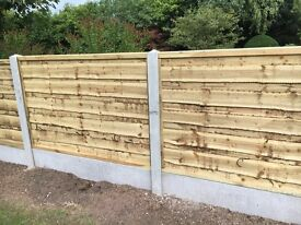 🔨🌟Excellent Quality Heavy Duty Waneylap Tanalosed Wooden Garden Fence Panels
